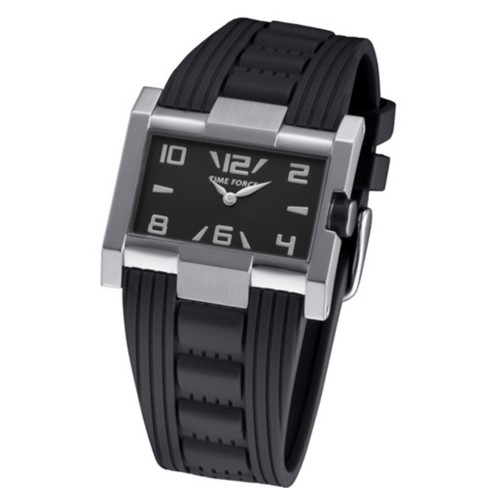 RELOJ MUJER TIME FORCE CAUCHO NEGRO