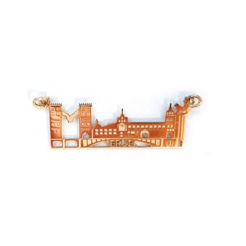 Colgante Skyline Teruel Oro